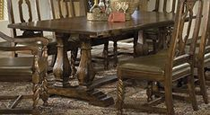 Find the biggest selection of Tables from Hekman Furniture at the lowest prices. Dining Table In Kitchen, Dining Room Chairs, Kitchen Furniture, Kitchen Window Treatments, Beautiful Kitchens, Havana, Home Decor, Decoration Home, Vintage Dining Chairs