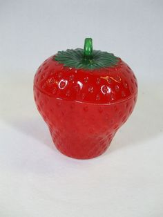 Vintage Strawberry Jam Jar~ For morning toast with my Alpine Strawberry dishes! It belonged to my mother.