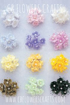 """1.5"""" pearl silk flowers perfect for wedding favors and wedding decor."""