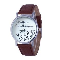 2016 Hot Sale Hot Women Leather Watch Whatever I am Late Anyway Letter Watches Good-looking MA 3