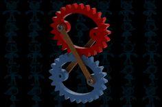 Crosslink ellipse gears - STEP / IGES,SOLIDWORKS - 3D CAD model - GrabCAD