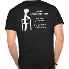 Under Construction Walker (Dark) T Shirt, Hoodie Sweatshirt