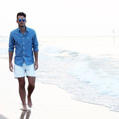 Coney Island Beach Attire Parachutes and Hot Dogs-summer beach outfits for men