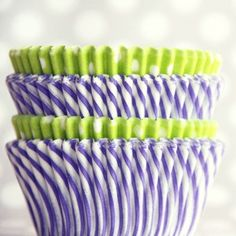 75 lavender lime cupcake liners from Shop Sweet Lulu $4.50