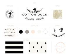 Classic + Quirky Branding for Cotton Duck Design Studio | b is for bonnie design
