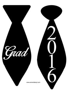 Ties from Grad 2016 Printable Photo Booth Prop Set