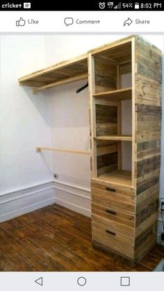 Easy pallet furniture projects for beginners 28 Wooden Pallet Shelves, Wooden Pallets, Wooden Diy, Pallet Wood, Pallet Couch, Pallet Tables, Outdoor Pallet, Pallet Cabinet, Pallet Benches