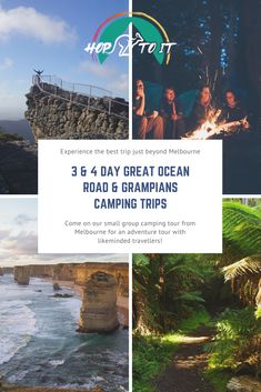 Come on our small group camping tour from Melbourne to the Great Ocean Road, Grampians and the Mornington Peninsula! Lots of included activities, food and no hidden costs! Visit Australia, Australia Travel, Australia Holidays, Camping Tours, Group Camping, Melbourne Travel, Visit Victoria, Coastal Gardens, Travel Inspiration