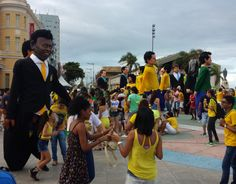 Carnival procession in Recife during FIFA World Cup 2014.