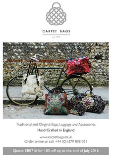 Our advert coming out in Exclusively British Magazine on Thursday! #handcrafted #handbags #madeinEngland