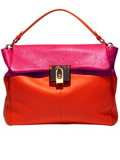 Shop BAZAAR's picks for the best shoes and accessories for fall, starting with best pops of color to embrace —red and pink - Lanvin bag #fall2012 #accessories #ShopBAZAAR