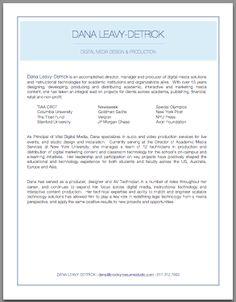 Digital Media Infographic Resume | Brooklyn Resume Studio ...