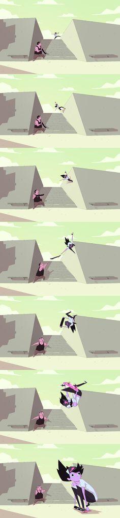 Kyoko Trick by radsechrist on DeviantArt