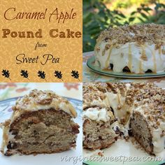 Caramel Apple Pound Cake from virginiasweetpea.com