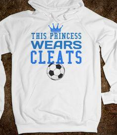 This Princess Wears Cleats Soccer Hoodie Sweatshirt