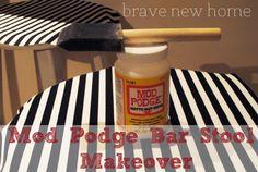 Mod Podge Bar Stools