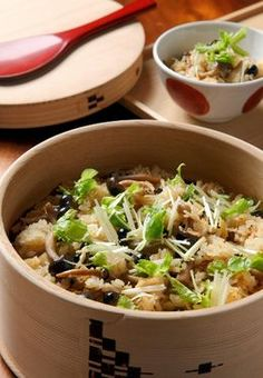 JAPANESE HOME COOKING: Rice cooked in dashi with scallops and shimeji - AJW by The Asahi Shimbun