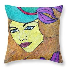 "The Beauty Throw Pillow 14"" x 14"""