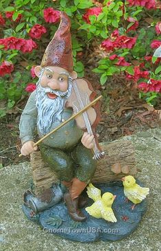 Fiddle de dah  http://www.gardenstatueshop.com/gnomes/2852+2855.cfm?source=googleaw=garden%20gnomes=exact