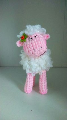 Crochet little sheep - pattern PDF document . by teddieswithlove on Etsy Crochet Sheep, Knit Crochet, Crochet Toys Patterns, Stuffed Toys Patterns, Toy 2, Knitted Animals, Crafty Projects, Crochet Gifts, Needlework