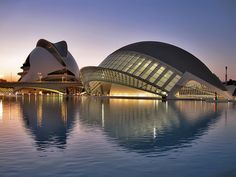 The City of Arts and Sciences - Valencia (Ciudad de las Artes y las Ciencias) is an entertainment-based cultural and architectural complex in the city of Valencia, Spain. Photo by FromTheNorth