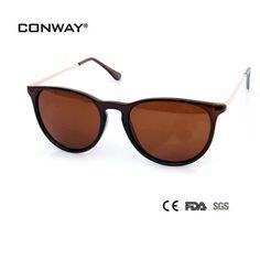 CONWAY 2017 Fashion Polarized Sunglasses Brand Designer Sun Glasses RB4171 Women Polaroid Brown lenses Goggle Sunglasses PC00302 #Affiliate