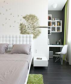 Deko Ideen Schlafzimmer Beige Wände Offene Regale Wanddeko ... Schlafzimmer Deko Ideen Wand