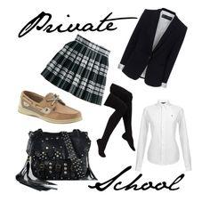 """Private School (Uniform)"" by rockerchick143 on Polyvore"
