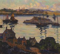 "Untitled, Gloucester harbor scene, Fern Coppedge, oil on canvas, 18 x 20"", collection of Jonathan Small."