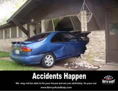 We know you were late for dinner but........... http://www.barrysautobody.com/ #Cars #CarAccident #Memes #Funny #StatenIsland #AutoBody