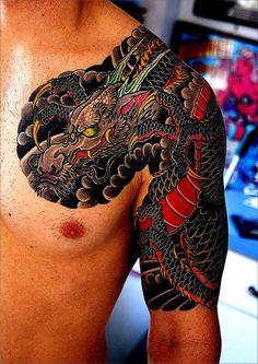 Japanese Dragon Tattoo