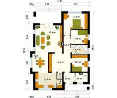 Aster MC projekt domu - Jesteśmy AUTOREM - DOMY w Stylu Aster, House Plans, Floor Plans, How To Plan, Design, Plants, Houses, Architecture, Ideas