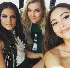 Ladies of the 100 at SDCC 2015 || Marie Avgeropoulos, Eliza Jane Taylor and Lindsey Morgan