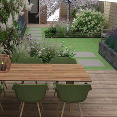 Garden Design Layout - New ideas Small Backyard Patio, Backyard Patio Designs, Backyard Landscaping, Small Garden Plans, Back Garden Design, Outdoor Furniture Sets, Outdoor Decor, Outdoor Fire, Terrace Garden