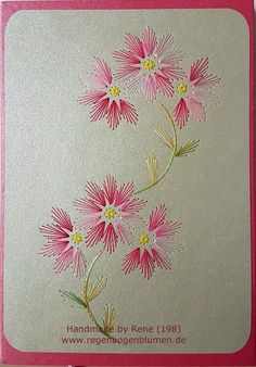 Embroidery Cards, Floral Embroidery Patterns, Hand Embroidery Videos, Embroidery Flowers Pattern, Hand Embroidery Stitches, Embroidery For Beginners, Hand Embroidery Designs, Embroidery Techniques, Ribbon Embroidery