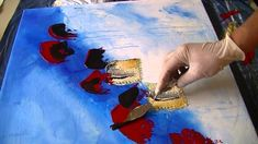 Abstract Painting   Abstrakte Spielerei   Demo Acrylmalerei  Speed Painting