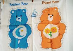 Cut and sew vintage Care Bears pattern