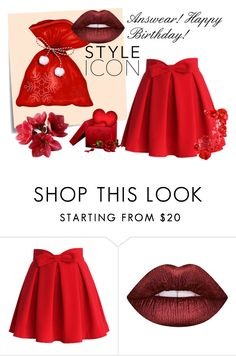 """""""Answear!"""" by w-zajac ❤ liked on Polyvore featuring Chicwish, Post-It and Lime Crime"""