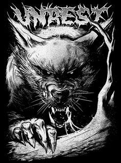 www.unrestclth.com #werewolf #art #design #fashion #blackandwhite