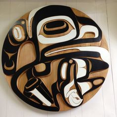 Moy Sutherland Home Killerwhale red cedar panel. Native art by Moy Sutherland. Www.moysutherland.com