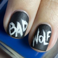 Bad Wolf! <3 I should probably do this with my Ninth Doctor costume!