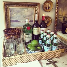 If ever there was a time to have a makeshift bar set up in your home, I say Christmas season is it...