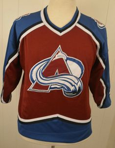 b30cf25d4 Vintage Starter Colorado Avalanche NHL Hockey Jersey Youth Kids L XL maroon   Starter