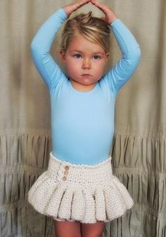 She'll look adorable in her #crochet tutu this spring. It's great for ballet class, birthday parties or any occasion.