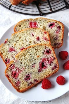 Lemon Raspberry Sweet Quick Bread