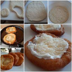 Krumplis Lángos - MesiNasi - Sütemény és Egyszerű Étel Receptek Camembert Cheese, Dairy, Lunch, Recipes, Food, Erika, Eat Lunch, Essen, Eten