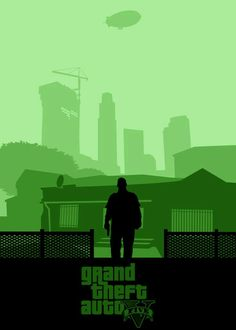 via Milo James - An awesome, Franklin themed Grand Theft Auto V poster. The Clinton Residence in Forum Drive, Strawberry, Los Santos can be seen in the background. I love the way the skyscrapers rise in the background and foreshadow Franklin's rise! Video Game Posters, Video Game Art, Video Games, Arcade, Clash Royale, Franklin Gta 5, Grand Theft Auto Series, Gta San Andreas, Gamer 4 Life