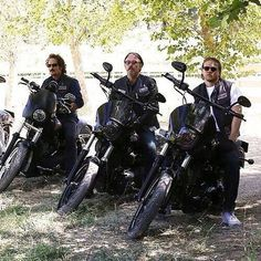 SOA - Tig, Chibs & Jax Could not have chosen better actors to play these characters Charlie Sons Of Anarchy, Serie Sons Of Anarchy, Sons Of Anarchy Samcro, Sons Of Anachary, Hd Fatboy, Anarchy Quotes, Kim Coates, Sons Of Anarchy Motorcycles, Tommy Flanagan