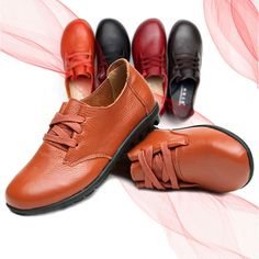 New Women Flats Comfortable Casual Lace-Up Soft Loafers Shoes