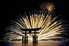Miyajima on the Sea Fireworks Display  is one of the most famous in Japan.  More information:en.wikipedia.org/wiki/Itsukushima_Shrine Camera : Pentax K10D Lens: smc PENTAX-DA☆16-50㎜F2.8ED AL [IF]SDM